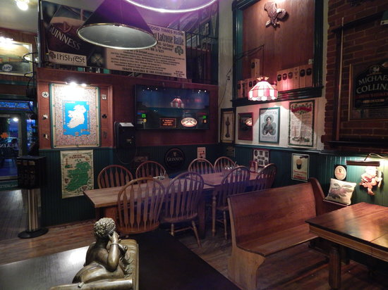 The Monarch Public House: Dining area with original 1894 tables