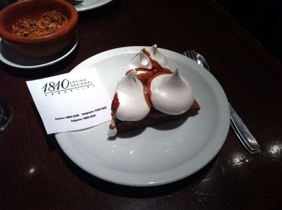 1810 Cocina Regional Argentina: Maravilhosa sobremesa: torta 1810!