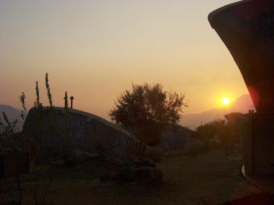 Didima Camp: Sonnenuntergang