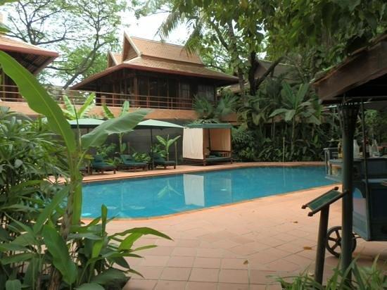 Pool area Angkor Village hotel