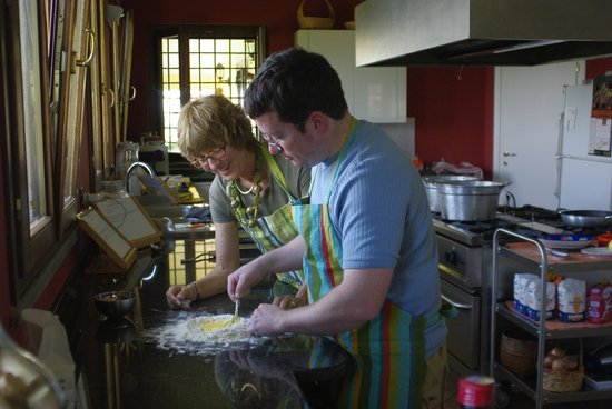 Flavor of Italy Cooking School : Cooking with our host!