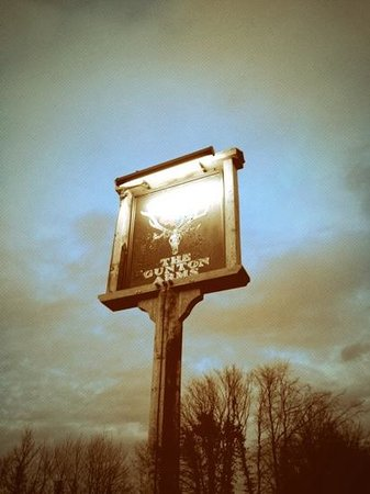 The Gunton Arms: Sign
