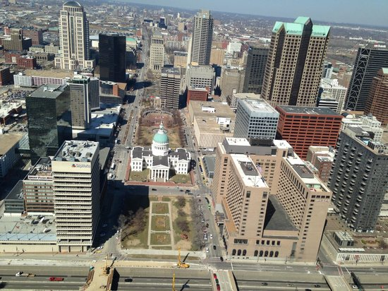 Gateway Arch: View from top of the arch