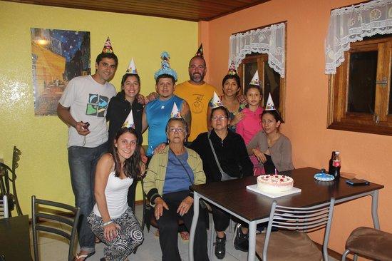 La Casa del Molino Blanco Bed & Breakfast: Festejando el cumpleaños de Jimmy!