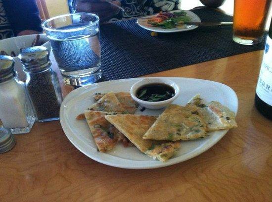 Dazoo: Scallion flatbread w/ soy-nori dipping sauce