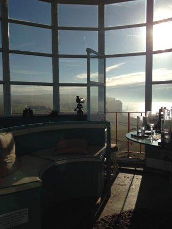 Belle Tout Lighthouse: lantern room in morning