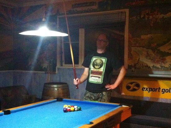 Berkenhoff Lodge : Playing pool