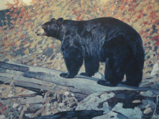Pioneer Grill at Jackson Lake Lodge: Jackson Lake Lodge - painting of black bear