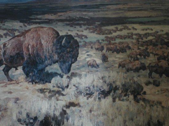 Pioneer Grill at Jackson Lake Lodge: Jackson Lake Lodge - painting of bison