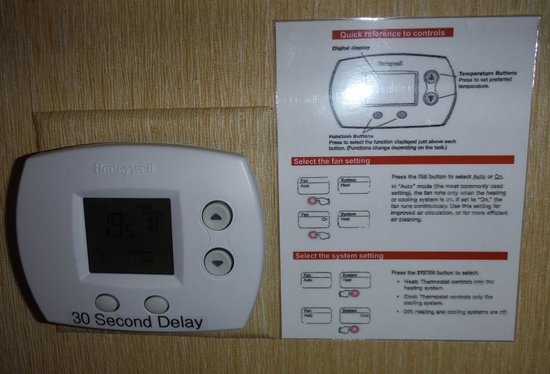 Courtyard Ottawa Downtown: Wall Thermostat WITH instructions
