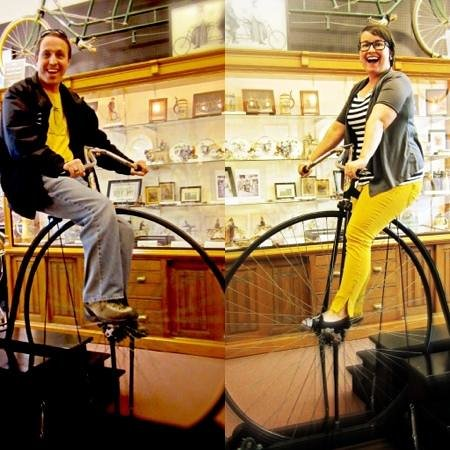 Bicycle Museum of America: riding the pennyfarthing