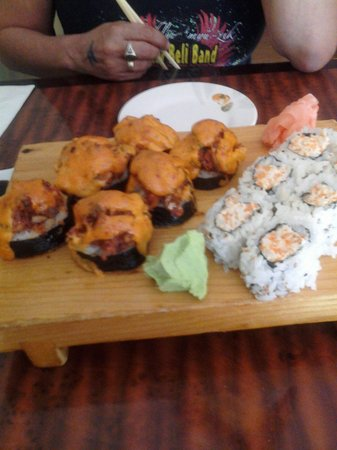 Asahi Sushi: Volcano roll and Maryland crab roll