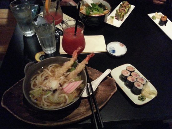 Sushi Village Japanese Cuisine: My udon with spicy tuna rolls