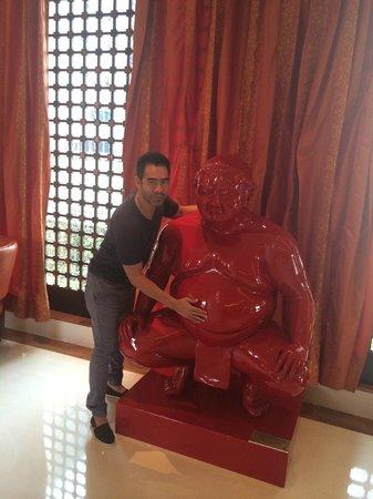 The Ritz-Carlton, Bangalore: rubbing his belly