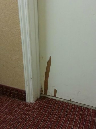 Hawthorn Suites by Wyndham Columbus North: Front of bathroom door