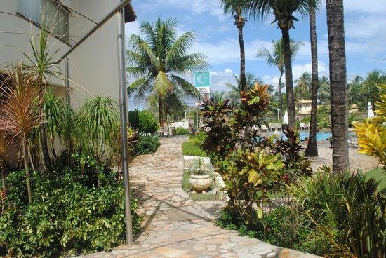 Mar Brasil Hotel : Vista para o jardim.