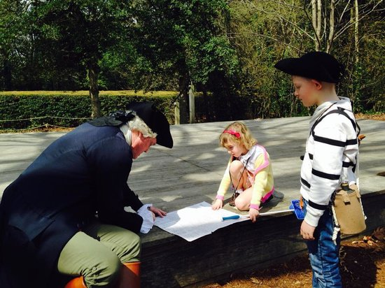 Colonial Williamsburg : Thomas Jefferson autographs our son's copy of the Declaration