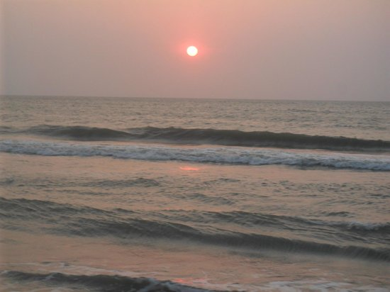 Occidental Cartagena : Great sunsets by ocean on deserted beach at Occidental, Cartagena,Colombia
