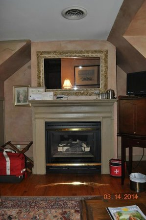 White Birches Inn : Fireplace in Tennessee Williams Room