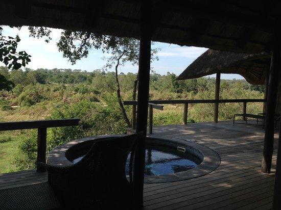 Londolozi Private Game Reserve : Room deck