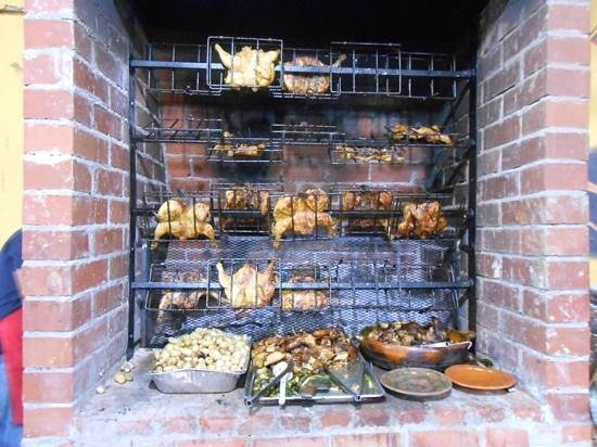 Rincon Tipico: wood fire frilled chicken and potatoes so good!