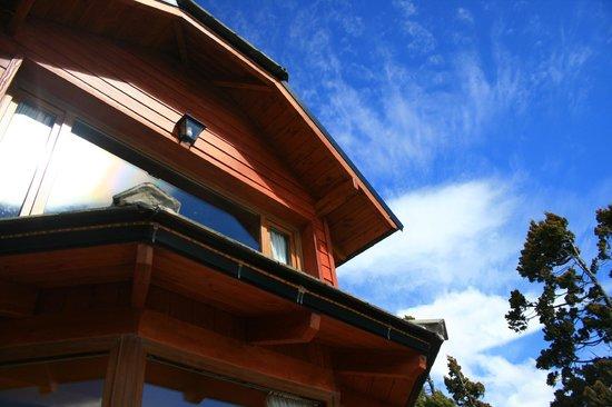 Charming Luxury Lodge & Private Spa : Vista desde la terraza hacia el comedor
