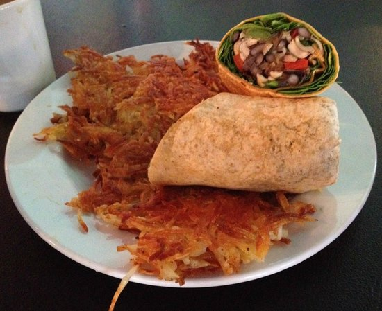 Jam on Hawthorne: MC wrap (vegan) with hash browns