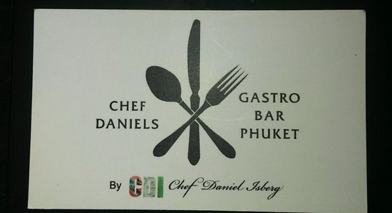 Chef Daniel's Gastro Bar Phuket: Look for this sign down the small side street