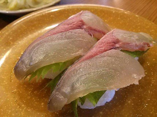 Kamesho Kurukuru Sushi : 関サバです!