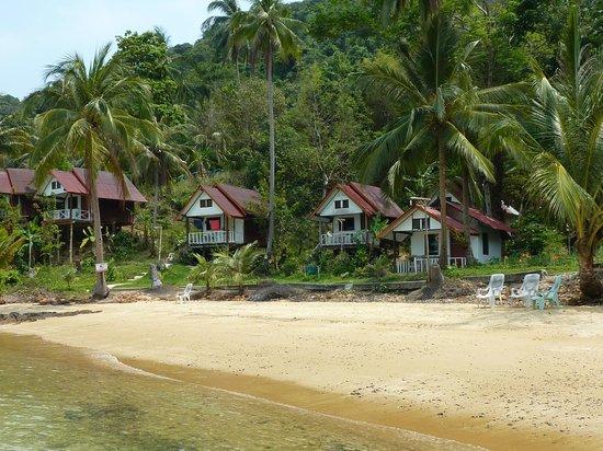 Koh Wai Pakarang Resort : Außenansicht der B-Bungalows