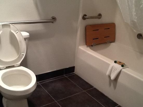 Sandia Peak Inn Motel: salle de bains pour personnes handicapées
