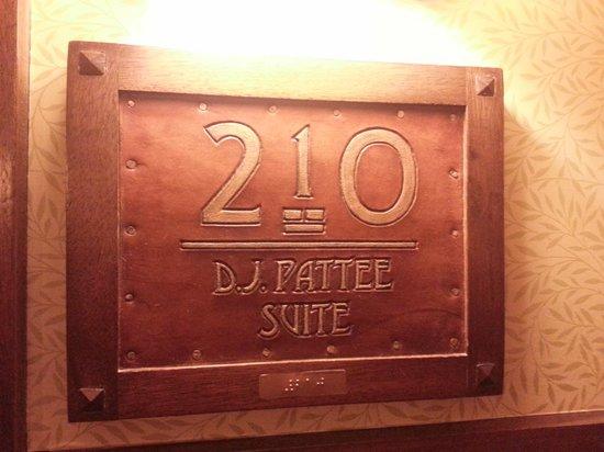 Hotel Pattee : Room placard