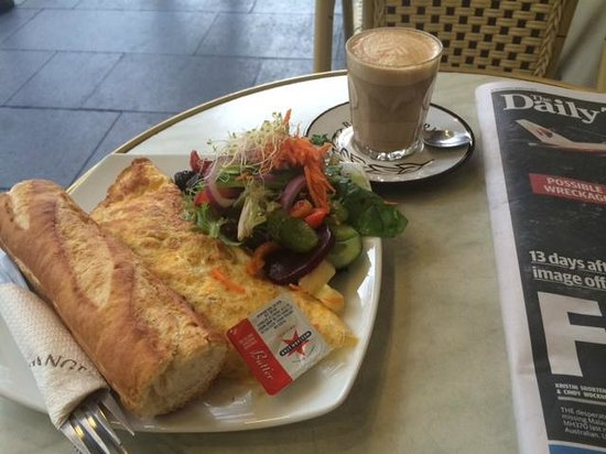 De La France Provincial Bakery: $16 breakfast included coffee