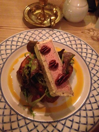 The Lazy Toad Inn: Chicken liver parfait encased in pecan butter on brioche