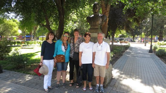 Travel Guide Chile: All smiles at San Jose de Maipo, with jackie 2nd from left.