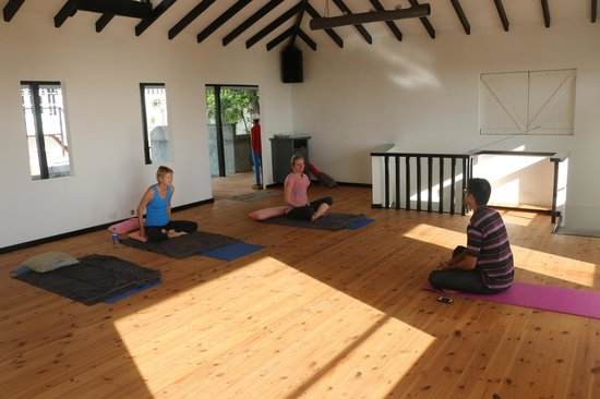 The Station Seychelles: Inside yoga studio
