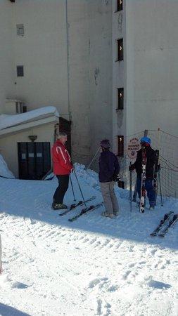 Club Med Avoriaz: enterance - for ski & arrival/departure (via ski room)