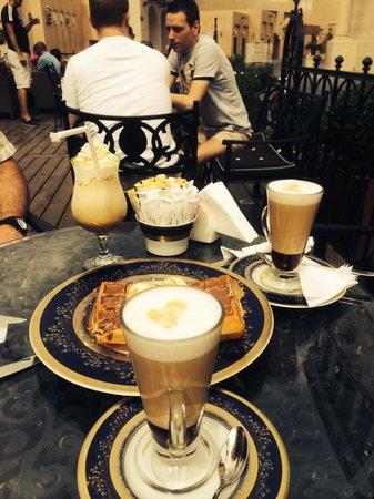Katara Cultural Village: Lovely belgian waffle @ Chac'late in Katara