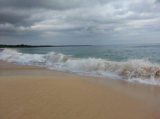 Oneloa Beach: Big beach wavs...
