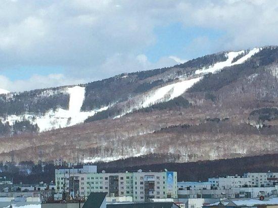 Mira Hotel : Skiing slopes seen from the corridor