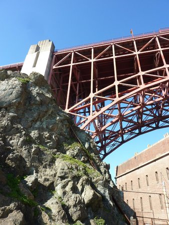 The Urban Safari : Under the Golden Gare Bridge looking up