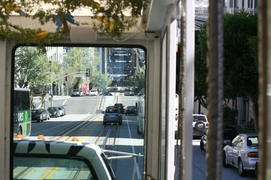 The Urban Safari : Inside the bus looking out.