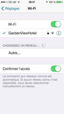 Garden View Hotel: Wifi gratuit et illimité. Accessible même dans les chambres