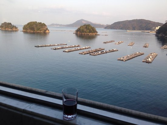 Toba Grand Hotel : ロビーからの眺めです!ウェルカムドリンク中♪