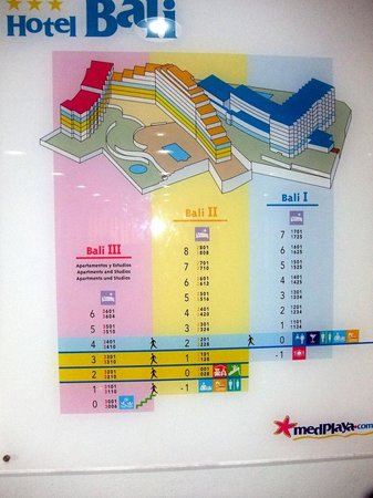 MedPlaya Hotel Bali: Hotel / Block layout