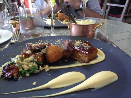 Delaire Graff Restaurant: Pork Belly - oh so very good!