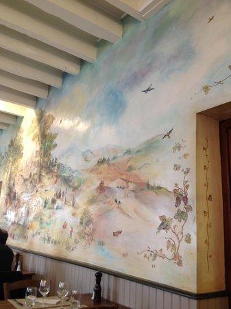 Auberge du Cheval Blanc : Dessin mural