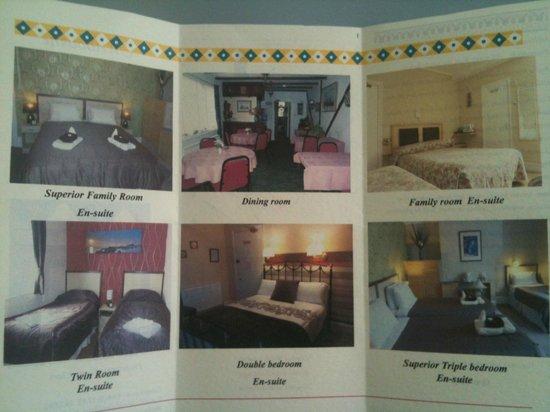 Chambres et salle manger sur leur brochure picture of for Salle a manger wales