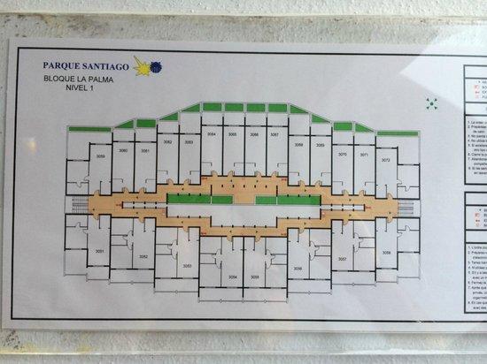Parque Santiago: Disposizione delle camere