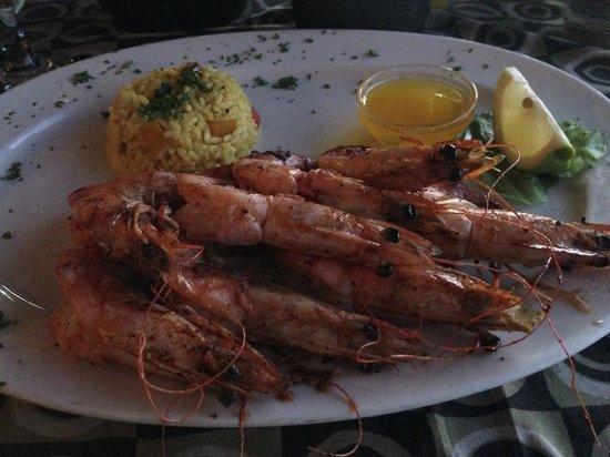 Voorstrandt : Delicious prawns for supper